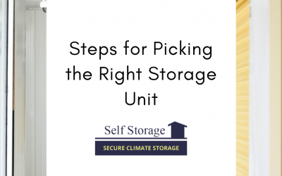 Steps for Picking the Right Storage Unit